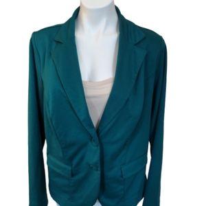 Torrid green career  blazer, size 1, XL